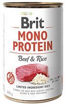 Влажный корм для собак Brit Mono Protein Beef & Rice с говядиной и рисом 400 г
