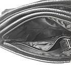 Мужская сумка из натуральной кожи с клапаном, большая, фото 7