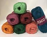 Пряжа хлопковая Vita Cotton Coco, Color No.4327 зеленый, фото 4