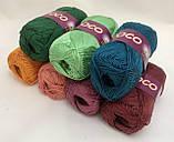 Пряжа хлопковая Vita Cotton Coco, Color No.4327 зеленый, фото 6