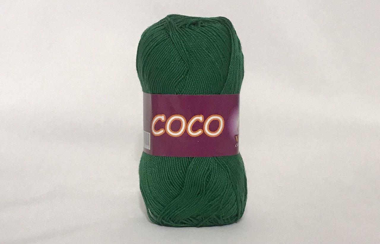 Пряжа хлопковая Vita Cotton Coco, Color No.4327 зеленый