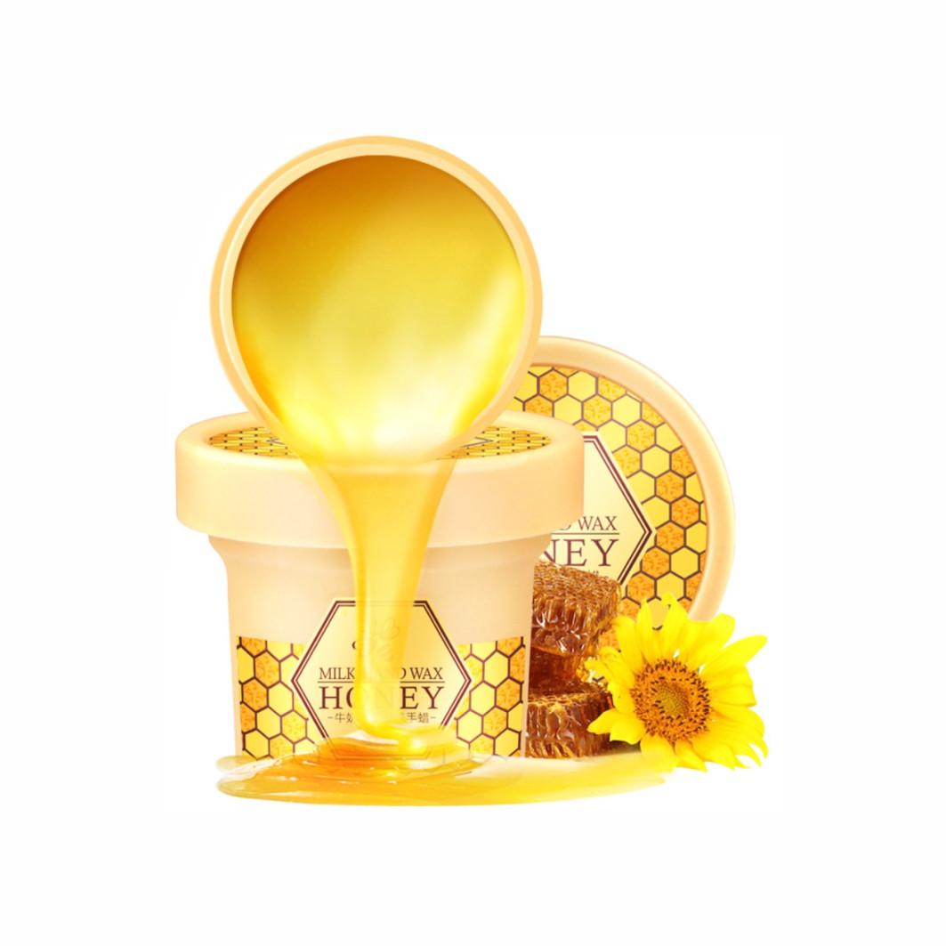 Маска для догляду за руками з екстрактом меду Laikou Milk Hand Wax Honey