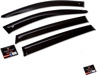Дефлекторы, Ветровики Daewoo Gentra Sedan 2013- Cobra накладки на окна