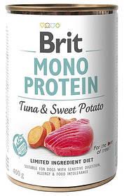 Влажный корм для собак Brit Mono Protein Tuna & Sweet Potato с тунцом и бататом 400 г