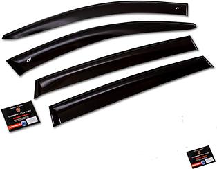 Дефлекторы, Ветровики Fiat Doblo 2dv 2000- Cobra накладки на окна