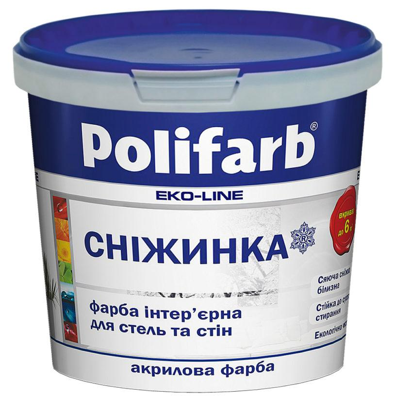 Краска интерьерная Polifarb Снежинка,  1,3 кг.