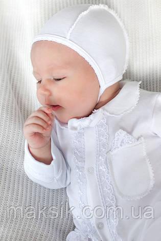 Комплект на выписку для новорожденных р.50-56 молочный, белый, фото 2