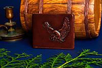 """Кожаный кошелёк ручной работы """"Орёл"""" от Privilege Handmade"""