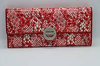 Жіночий шкіряний гаманець Wanlima 11045340661b2 Red/White