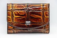 Жіночий шкіряний гаманець Wanlima 81042340473b1 Light Coffee, фото 1