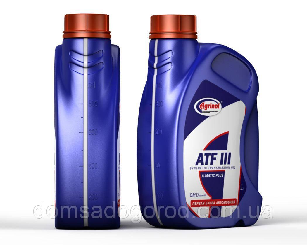 Масло трансмиссионное Agrinol ATF III, 1 л