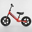 """Беговел CORSO Велобег детский красный, стальная рама, колесо 12"""" велосипед без педалей , фото 2"""