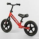 """Беговел CORSO Велобег детский красный, стальная рама, колесо 12"""" велосипед без педалей , фото 3"""