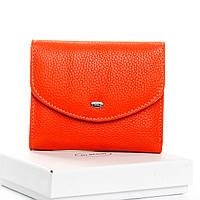 Кошелек женский кожаный оранжевый Classic DR. BOND WS-4 orange