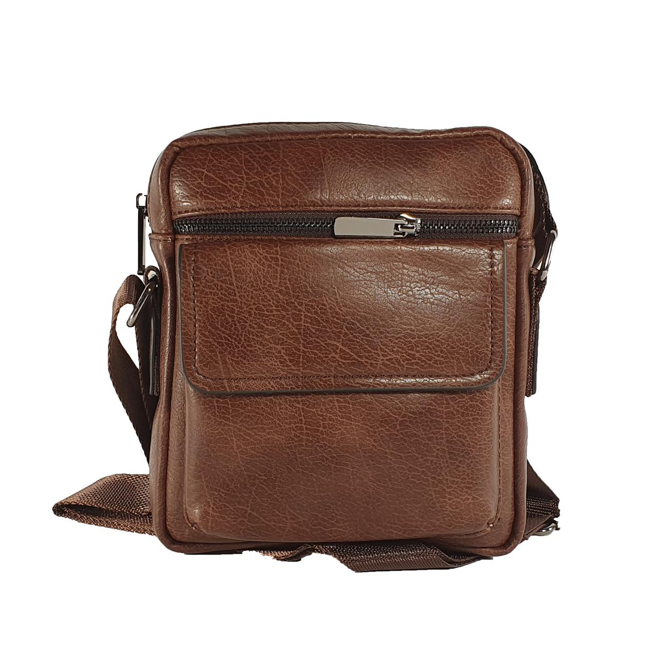 Многосекционная сумка из экокожи