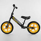 """Беговел CORSO Велобег детский черный, стальная рама, колесо 12"""" велосипед без педалей , фото 2"""