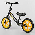"""Беговел CORSO Велобег детский черный, стальная рама, колесо 12"""" велосипед без педалей , фото 3"""