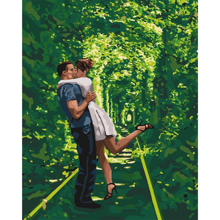 Картина по номерам Арка любви ТМ Идейка 40 х 50 см КНО4649