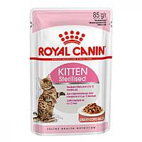 8+4 Корм Роял Канін Royal Canin Kitten Sterilised вологий для стерилізованих кошенят 85 г