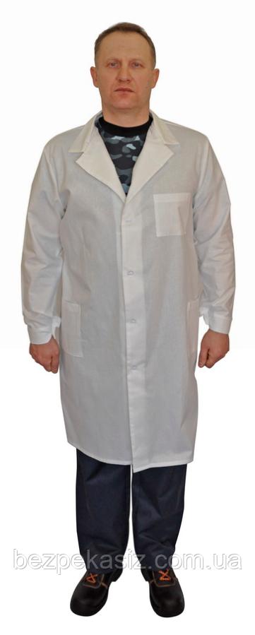 Халат мужской белый ткань бязь
