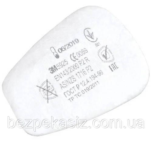 Фильтр 3М 5925 Р2 пердфильтр для фильтров к маскам и палумаскам 3М Цена за Пару Оригинал