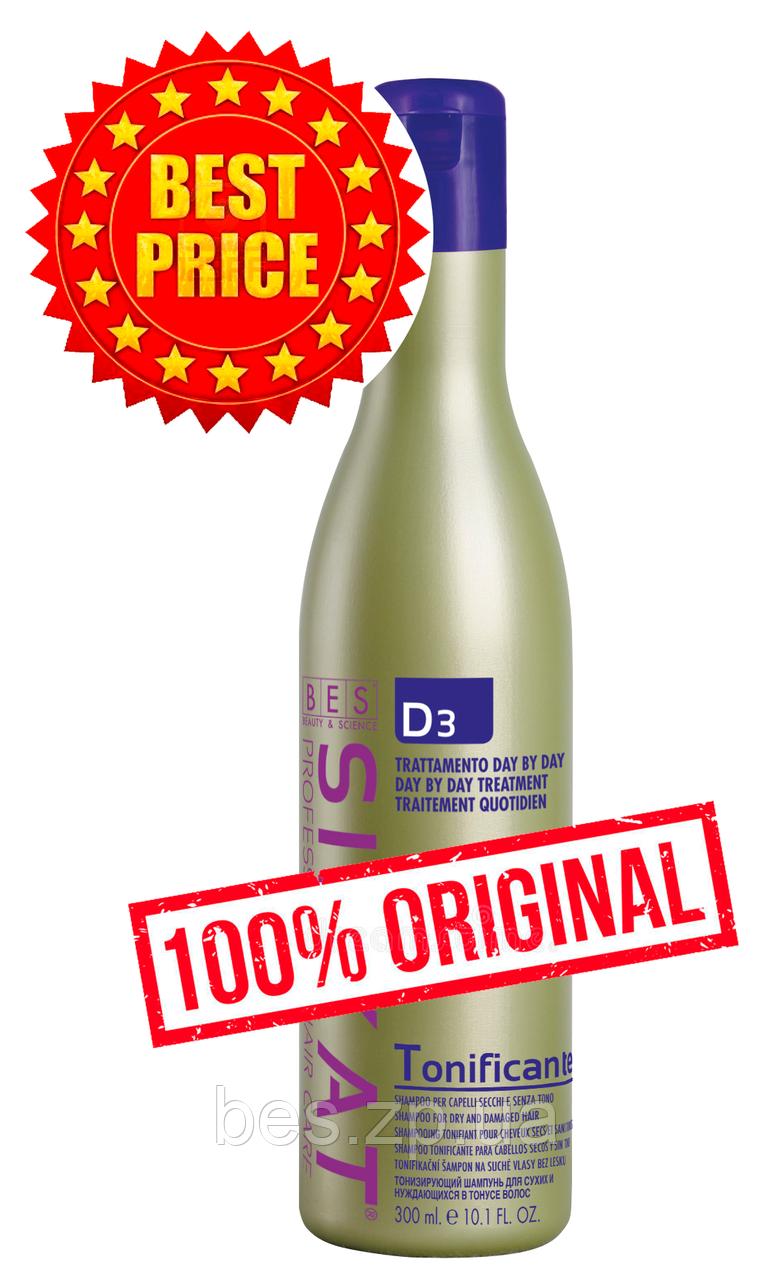 Тонізуючий шампунь для всіх типів волосся з протеїнами Silkat (Сілкат) Tonificante D3 300 мл