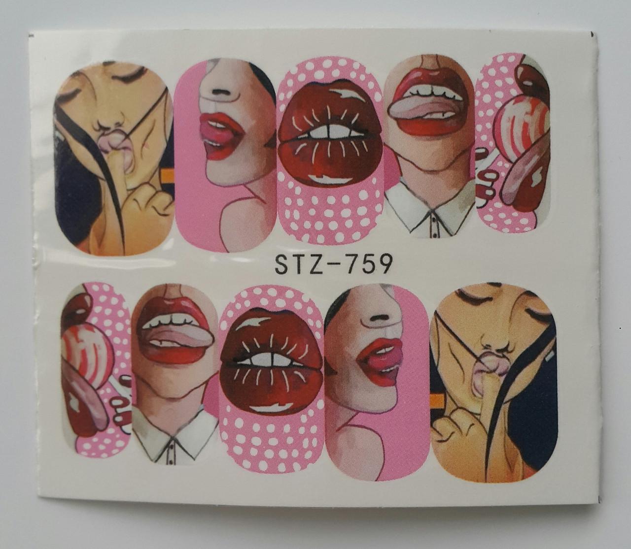 Наклейка для ногтей STZ-759