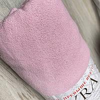 Махровая простынь на резинке 160*200+25см   Простинь на резинці   Наматрасник на резинке   Цвет - Розовый