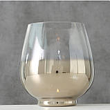 Подсвечник Грация серебряное лакированное стекло h15 d13см, фото 2