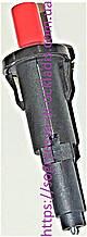 Кнопка пьезорозжига красная 17ммзащёлка/ клипса (б.ф.у, Кит) колонок котлов газовых, к.з. 1432/1