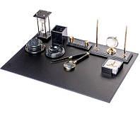 Настольный набор для руководителя из мрамора Bestar на 10 предметов Черный