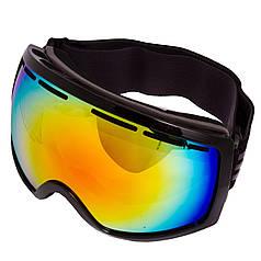 Очки горнолыжные SPOSUNE HX001 (TPU,двойные линзы,PC,антифог,оправа-черная, цвет линз цвета в ассортименте)
