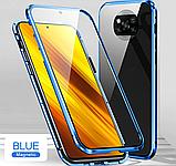 Магнитный металл чехол FULL GLASS 360° для Xiaomi POCO X3 NFC / POCO X3 PRO /, фото 3