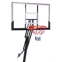 Стійка баскетбольна зі щитом (мобільна) DELUX S024 (щит-PC р-р 127х80см, кільце-сталь (16мм) d-45см,, фото 2