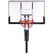 Стійка баскетбольна зі щитом (мобільна) DELUX S024 (щит-PC р-р 127х80см, кільце-сталь (16мм) d-45см,, фото 3