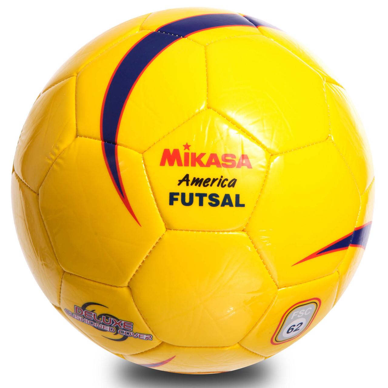 М'яч для футзалу №4 ламін. MIKASA FSC62Y (зшитий вручну, жовтий)