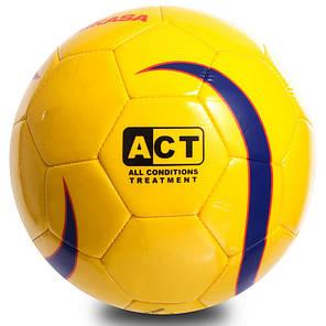М'яч для футзалу №4 ламін. MIKASA FSC62Y (зшитий вручну, жовтий), фото 2
