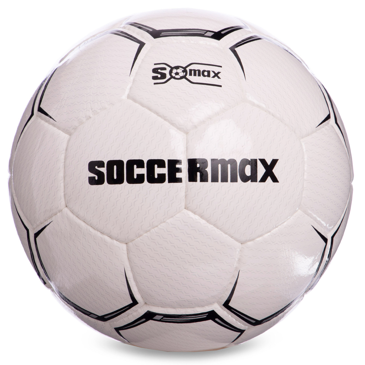 Мяч футбольный профессиональный №5 SOCCERMAX FIFA FB-0001 (PU, белый-черный)