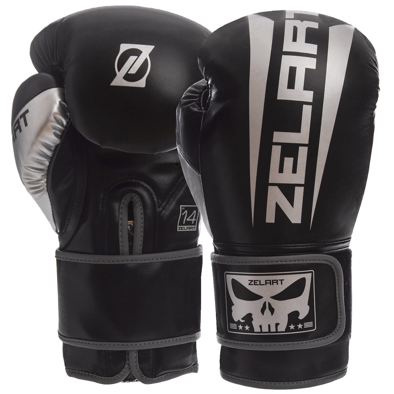 Перчатки боксерские PU на липучке ZELART BO-1323 (р-р 10-14oz, цвета в ассортименте)