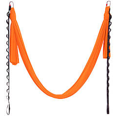 Гамак для йоги со стропами и креплением Zelart Antigravity Yoga DH6026 (полиэстер, р-р 280смх5м, цвета в