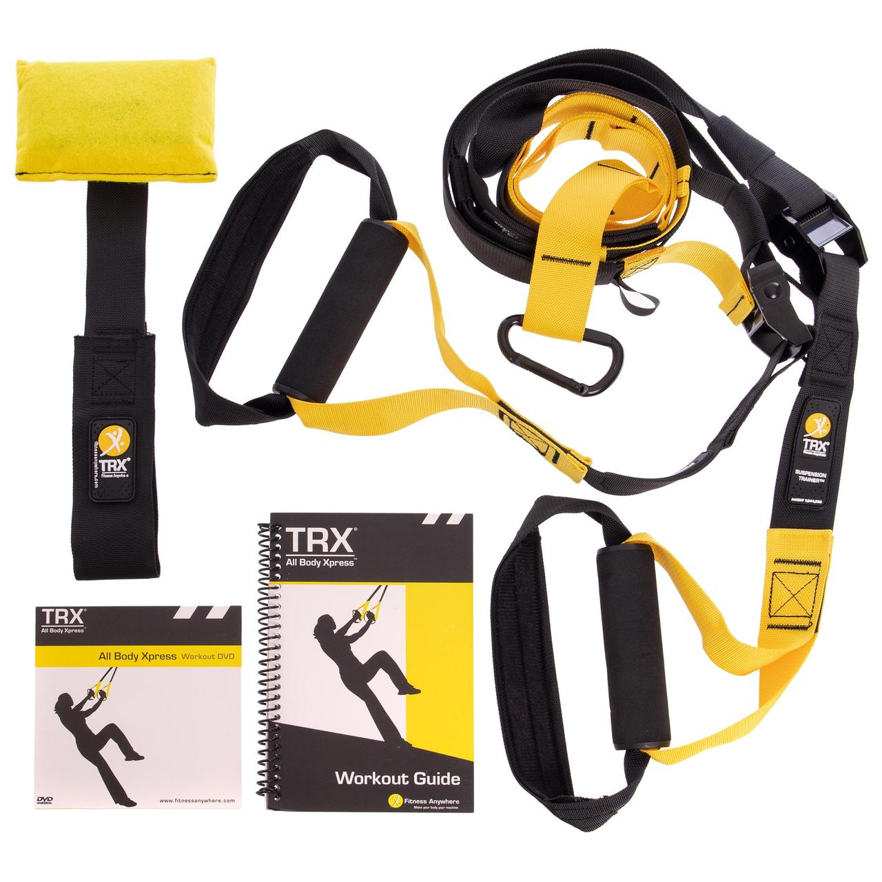 Петли TRX функциональный тренажер KIT P1 FI-3723-02 (петли подвесные, дверное крепление, DVD, сумка,