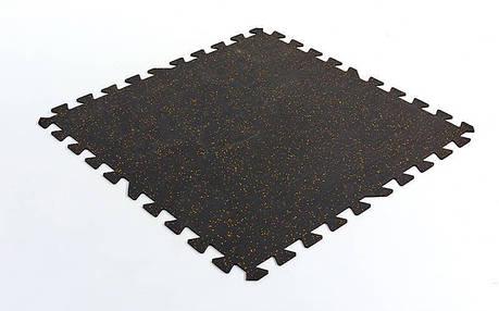 Коврик-пазл под тренажер резиновый 1шт 100x100x0,6см FI-5348-2 (черный), фото 2