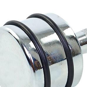 Гантель хромована Record DB5204-9 (1х9кг) (1шт, метал хромований, з гумовими кільцями), фото 2