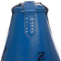 Груша набивная Каплевидная подвесная ZELART BO-1978 (PU, d-60см l-105см, черный-красный), фото 3