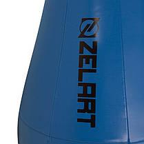 Груша набивна Каплевидна підвісна ZELART BO-1978 (PU, d-см l-см, чорний-червоний), фото 3