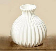 Ваза Эско белая керамика h11см Гранд Презент 5549700