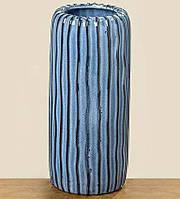 Ваза Акварель керамика синий h24см d10см Гранд Презент 1005975