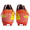 Бутсы футбольная обувь GF-002-2 размер 39-44 (верх-TPU, подошва-RB, оранжевый-лимонный), фото 2