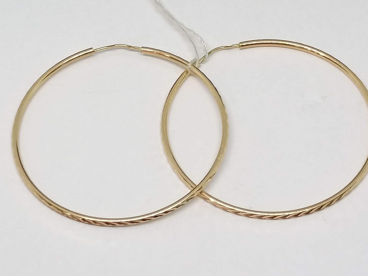 Золотые серьги. Артикул 100025