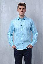 Рубашка мужская W.E. с д/р голубого цвета (размер 46,48,50,52,54)
